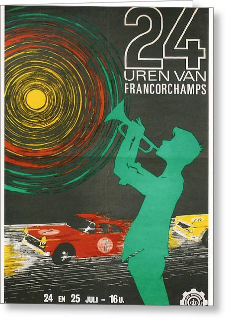 Touring Car Greeting Cards - 24 Hours of Spa-Francorchamps Greeting Card by Nomad Art And  Design