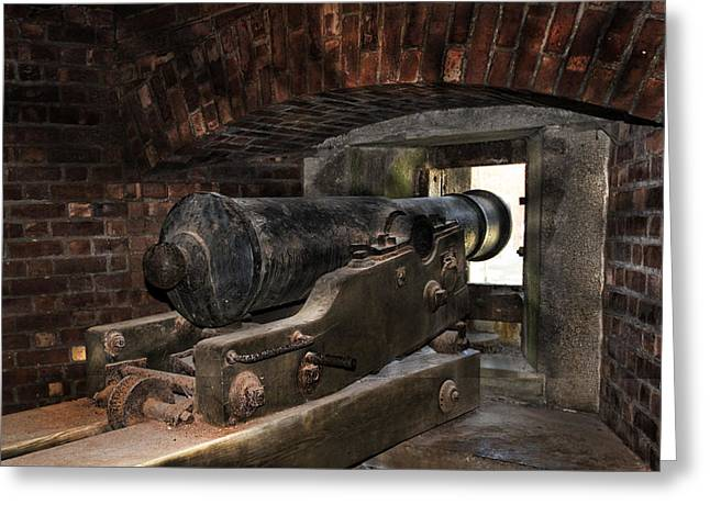 Blacksmiths Greeting Cards - 24 Pounder Cannon Greeting Card by Peter Chilelli