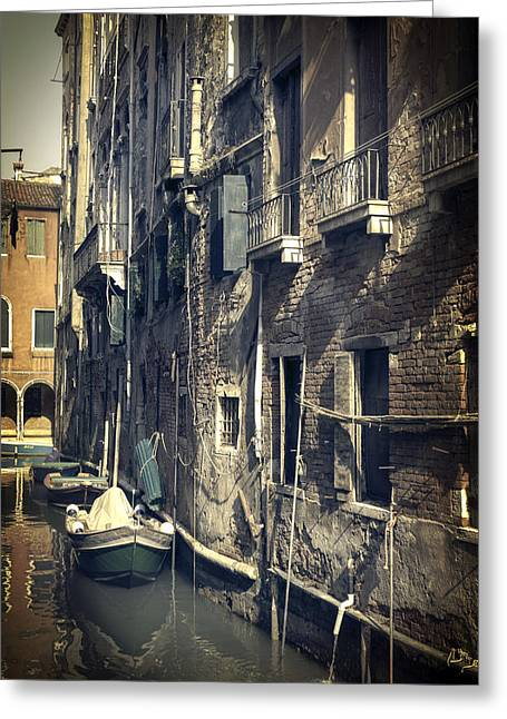 Window Reflection Greeting Cards - Venezia Greeting Card by Joana Kruse