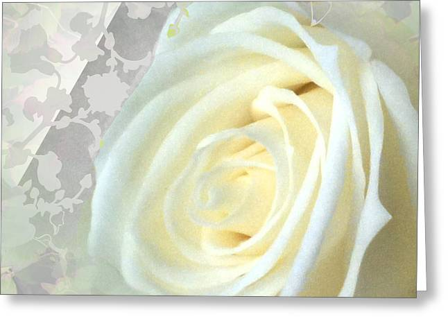Bold Style Greeting Cards - Wedding Rose Collection  Greeting Card by Debra     Vatalaro