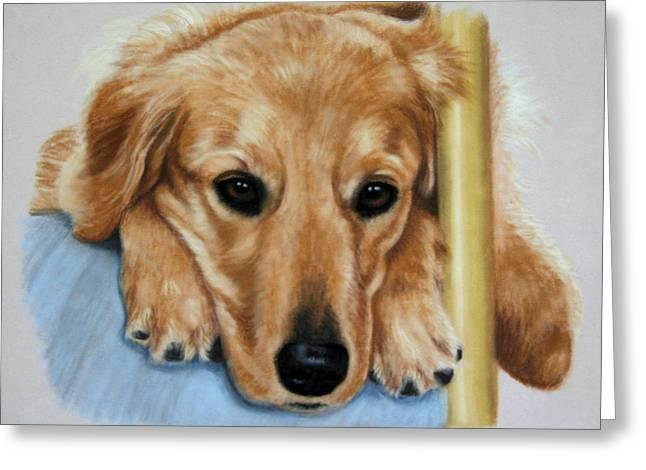 Golden Pastels Greeting Cards - 24k Greeting Card by Debbie Stonebraker