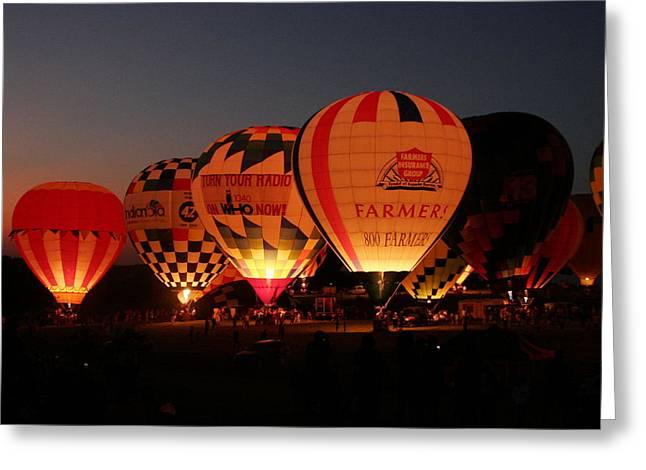 Balloons Greeting Card by Rick Rauzi