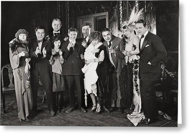 Agnew Greeting Cards - Silent Film Still Greeting Card by Granger