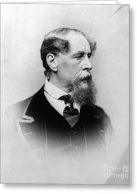 Charles Dickens (1812-1870) Greeting Card by Granger