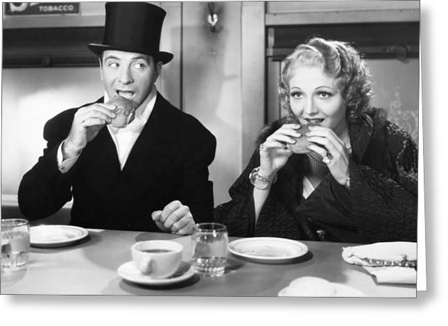 Hamburger Greeting Cards - Film Still: Eating & Drinking Greeting Card by Granger
