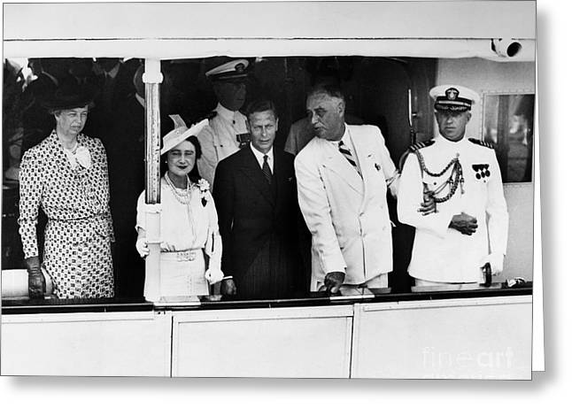 Queen Consort Greeting Cards - Franklin D. Roosevelt Greeting Card by Granger