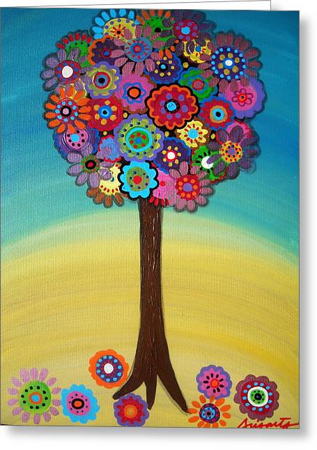 Best Sellers -  - Carter House Greeting Cards - Tree Of Life Greeting Card by Pristine Cartera Turkus