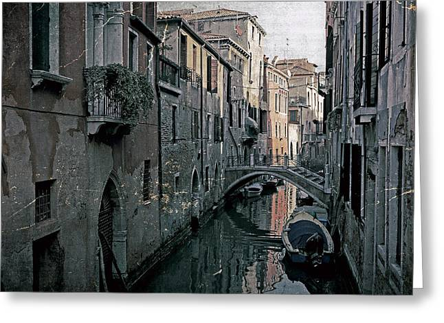 Venetian Door Greeting Cards - Venezia Greeting Card by Joana Kruse