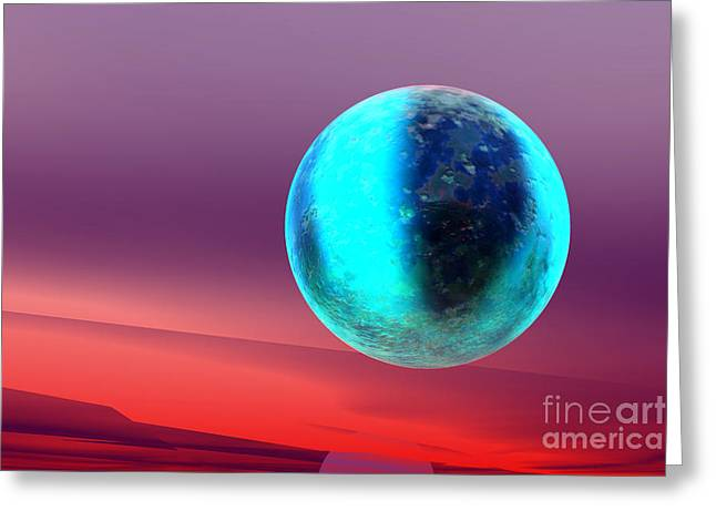 Planet Greeting Card by Odon Czintos