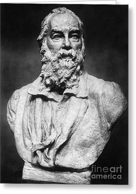 Portrait Sculpture Photograph Greeting Cards - Walt Whitman (1819-1892) Greeting Card by Granger