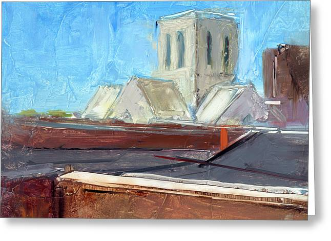 Steeples Greeting Cards - RCNpaintings.com Greeting Card by Chris N Rohrbach