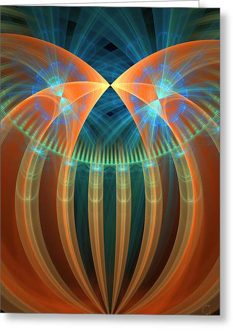 Generative Abstract Greeting Cards - 277 Greeting Card by Lar Matre