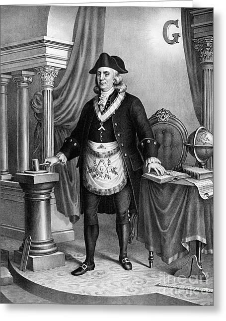 Publisher Greeting Cards - Benjamin Franklin (1706-1790) Greeting Card by Granger