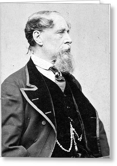 1867 Greeting Cards - Charles Dickens (1812-1870) Greeting Card by Granger