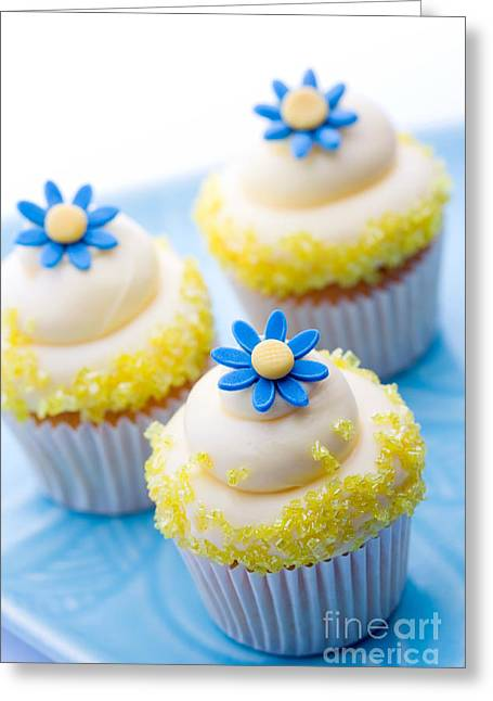 Fondant Greeting Cards - Cupcakes Greeting Card by Ruth Black