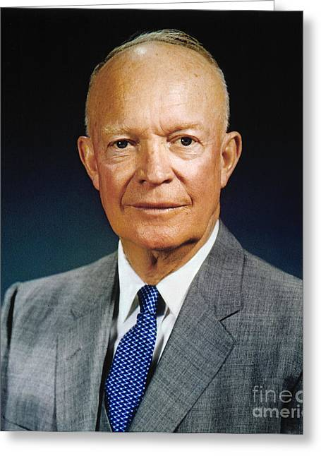 1950s Portraits Greeting Cards - Dwight D. Eisenhower Greeting Card by Granger