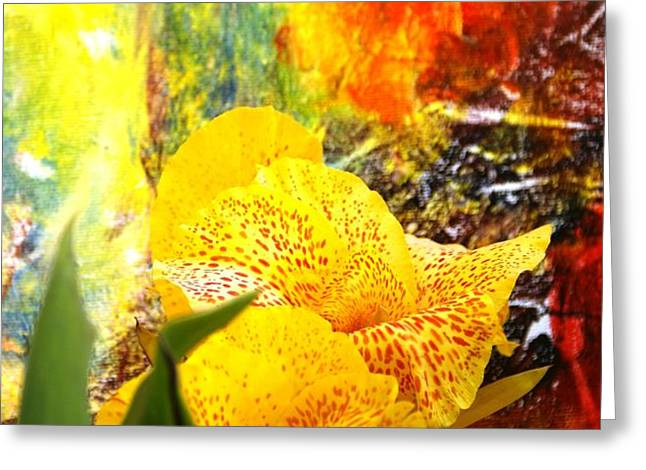 FLOWERS AND ART Greeting Card by Geegee W