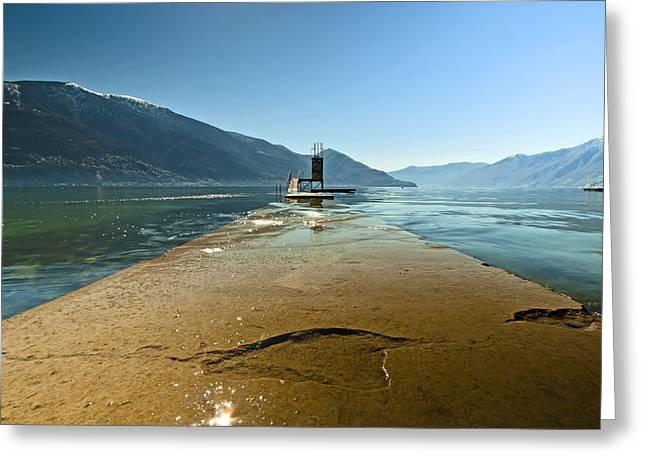Sailing Boat Greeting Cards - Lake Maggiore Greeting Card by Joana Kruse
