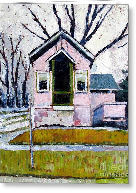 Early Spring Paintings Greeting Cards - 28 Washington shotgun Greeting Card by Charlie Spear
