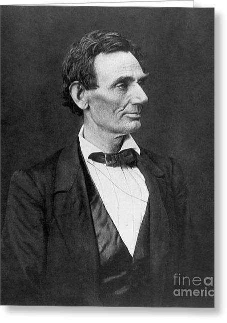 Nomination Greeting Cards - Abraham Lincoln Greeting Card by Granger