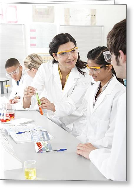 Lessons Greeting Cards - Chemistry Lesson Greeting Card by