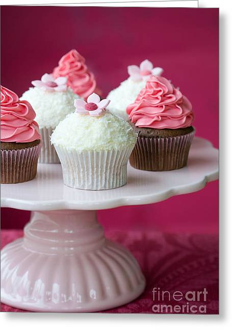 Cake Stand Greeting Cards - Cupcakes Greeting Card by Ruth Black