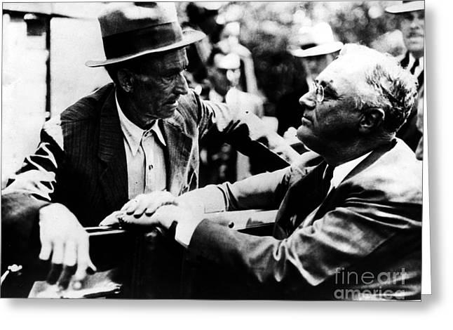 Franklin D. Roosevelt Greeting Card by Granger