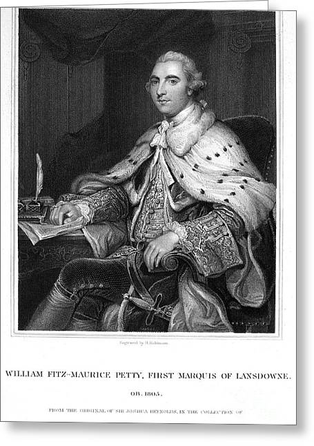 Shelburne Greeting Cards - 2nd Earl Of Shelburne Greeting Card by Granger