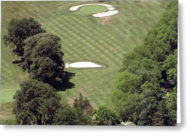 2nd Hole Philadelphia Cricket Club St Martins Golf Course Greeting Card by Duncan Pearson