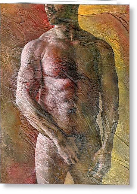 Men Mixed Media Greeting Cards - 2nd Moment Greeting Card by Chris  Lopez