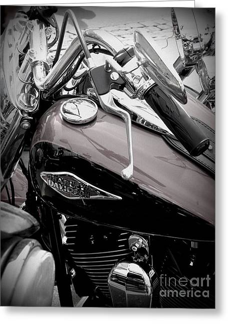 3 - Harley Davidson Series Greeting Card by Lainie Wrightson