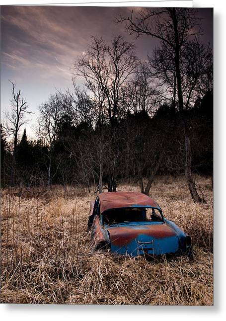 Rusted Cars Greeting Cards - 1956 Chevy Greeting Card by Cale Best