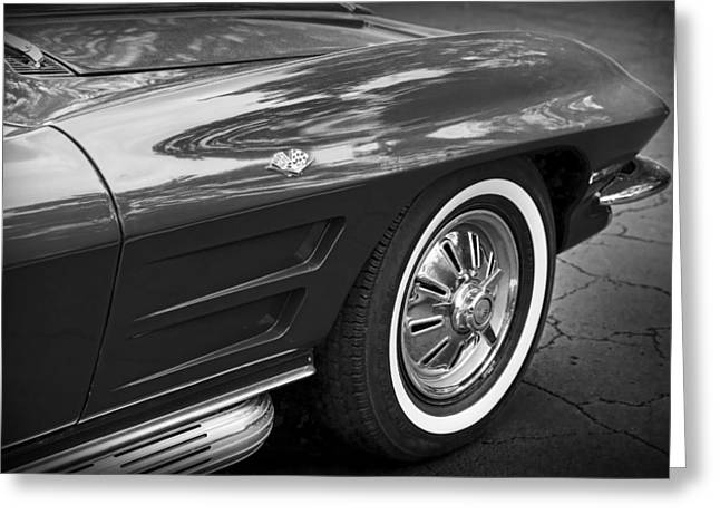 Carlisle Greeting Cards - 1962 Chevrolet Corvette Greeting Card by Gordon Dean II