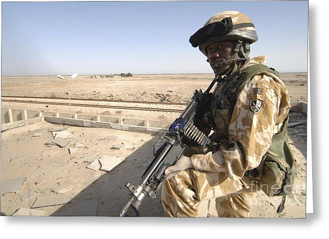 A British Army Soldier Provides Greeting Card by Andrew Chittock