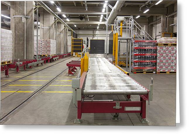 Automated Greeting Cards - A Modern Brewery Warehouse In Estonia Greeting Card by Jaak Nilson