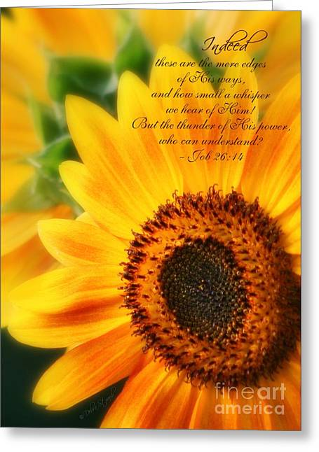 Bible Verses Greeting Cards - A Small Whisper Greeting Card by Debra Straub