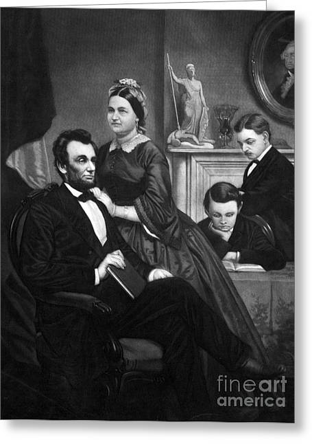 Presidents Wives Greeting Cards - Abraham Lincoln (1809-1865) Greeting Card by Granger
