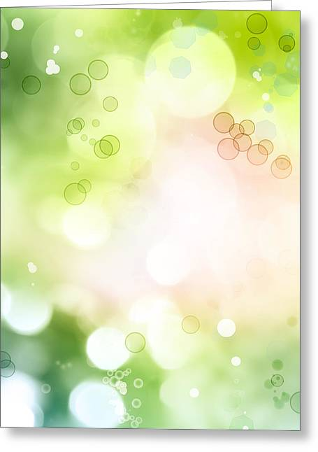 Soft Green Abstract Greeting Cards - Abstract background Greeting Card by Les Cunliffe