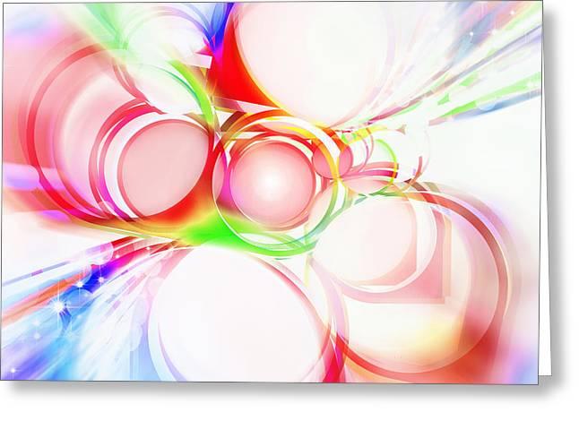 Spheres Greeting Cards - Abstract Of Circle  Greeting Card by Setsiri Silapasuwanchai