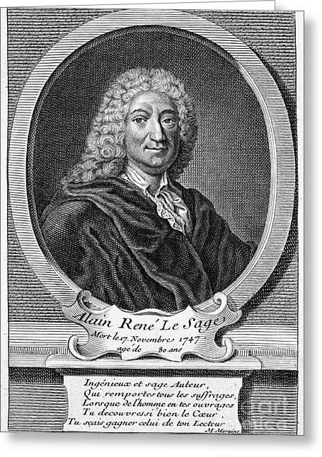 18th Century Greeting Cards - Alain Rene Lesage Greeting Card by Granger