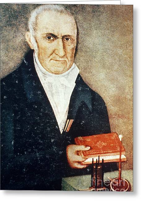 A. Volta Greeting Cards - Alessandro Volta, Italian Physicist Greeting Card by Science Source