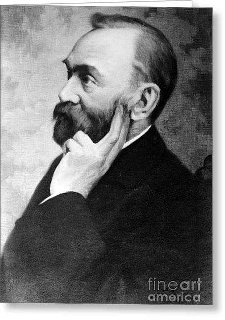 Nobel Recipient Greeting Cards - Alfred Nobel, Swedish Chemist Greeting Card by Science Source