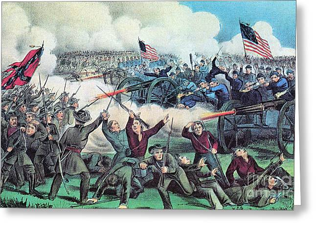 3rd Army Greeting Cards - American Civil War, Battle Greeting Card by Photo Researchers