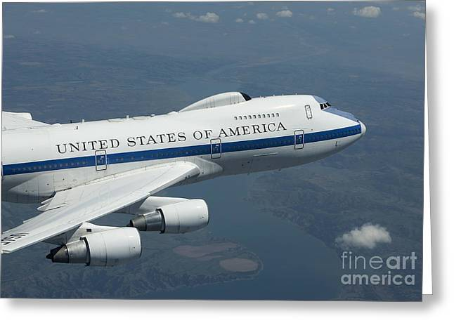 Command Center Greeting Cards - An E-4b National Airborne Operations Greeting Card by HIGH-G Productions