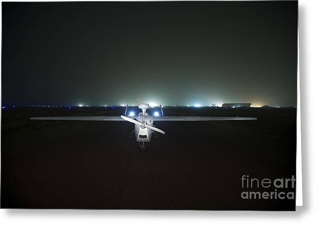 Taxiway Greeting Cards - An Rq-5 Hunter Unmanned Aerial Vehicle Greeting Card by Terry Moore