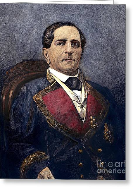Statesman Greeting Cards - ANTONIO LOPEZ de SANTA ANNA Greeting Card by Granger