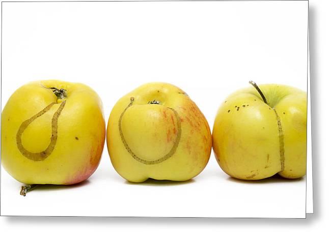 Pest Greeting Cards - Apples Greeting Card by Bernard Jaubert