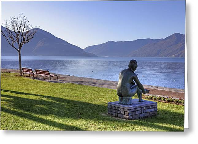 Sculptures Greeting Cards - Ascona - Lake Maggiore Greeting Card by Joana Kruse