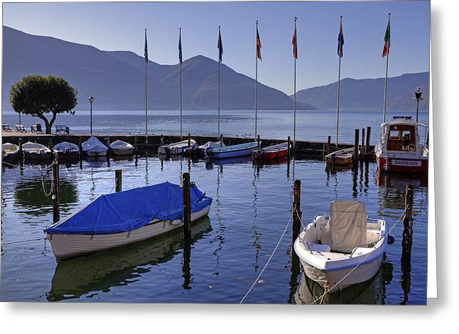 Motor Boats Greeting Cards - Ascona Greeting Card by Joana Kruse