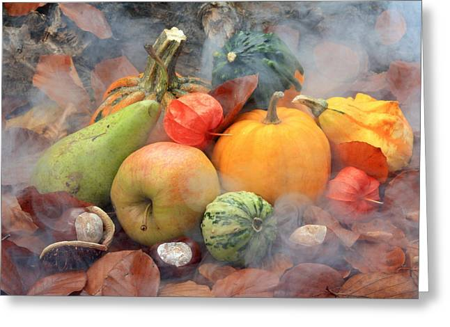 Autum Greeting Cards - Autumn Greeting Card by Manfred Lutzius
